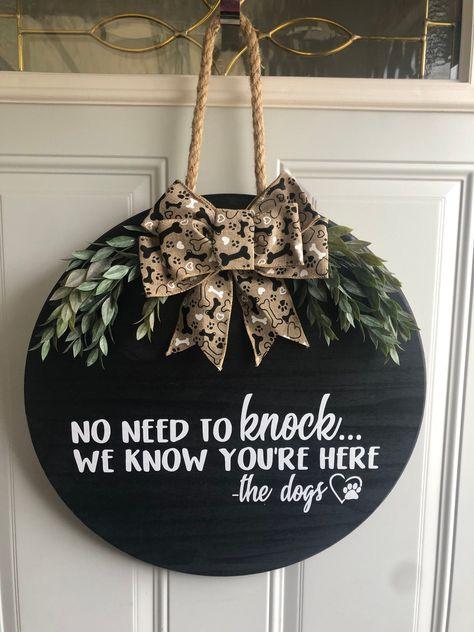 Wooden Door Signs, Front Door Signs, Wooden Door Hangers, Front Door Decor, Wooden Doors, Front Porch, Fall Door Hangers, Christmas Door Hangers, Wood Circles