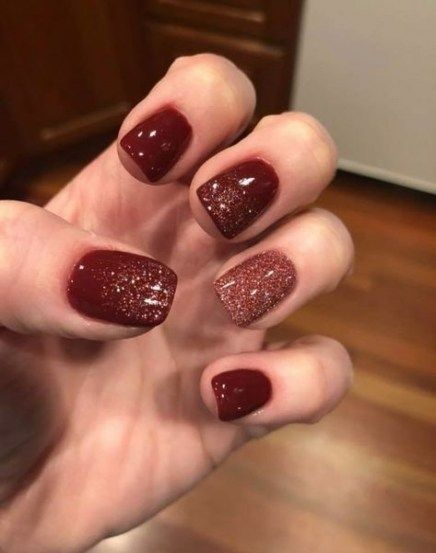 Nails Fall Colors 2018 Dip 19 Ideas Red Gel Nails Dipped Nails Trendy Nails