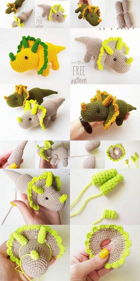 Crochet Dinosaur Toy Pinterest Hashtags Video And Accounts