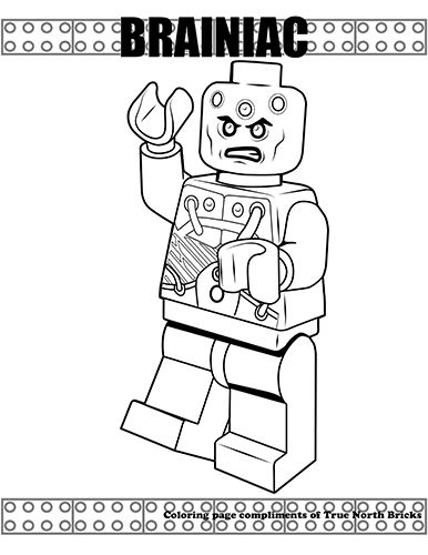 Coloring Page Brainiac True North Bricks Lego Coloring Pages Superhero Coloring Pages Batman Coloring Pages