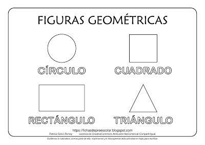 Lamina Con Cuatro Figuras Geometricas Con Imagenes Figuras