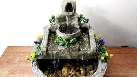 Diy Fountain Diy Tabletop Fountains With Images Diy Water