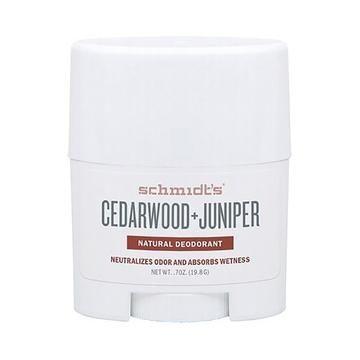 Schmidt S Natural Travel Deodorant Stick Cedarwood Juniper 19g
