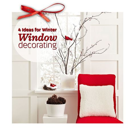 Cute ideas for winter window decorating! http://www.midwestliving.com/holidays/christmas/4-ideas-for-winter-window-decorating/