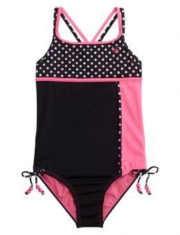 0fbcc675d4d Colorblock Dot One Piece Swimsuit   Tween Fashion and Fun in 2019   Tween  fashion, Swimwear, Tween girls