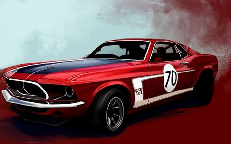 FORD Mustang ART PRINTS by Design Factory Limited Edition Art