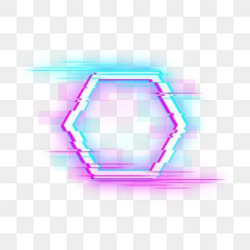 Hexagonal Neon Fault Frame Neon Border Light Effect Neon Lights Png Transparent Clipart Image And Psd File For Free Download Frame Border Design Gold Circle Frames Frame Background