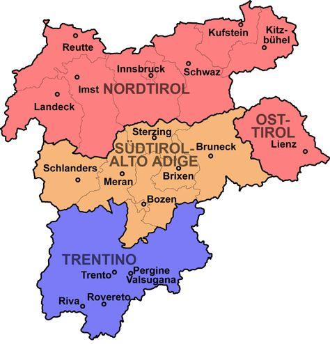 Title Con Immagini Mappa Dell Italia Mappe Alto Adige