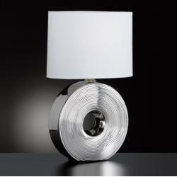 A++ Fischer /& Honsel Tischlampe /'Eye/' Textil-Tischleuchte Keramik Modern E27