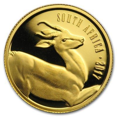 2017 South Africa 1 10 Oz Gold Natura The Springbok Gold Bullion Buying Gold Gold Investments