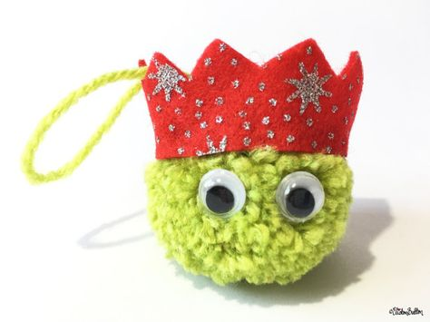 8a07ccb3d42db Should be easy enough to make - Christmas Sprout Pom Pom Decoration Light  Green Red