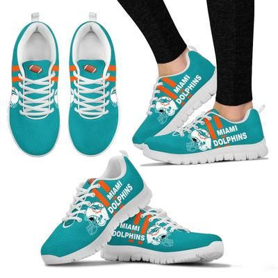 02e9d0c3 Vertical Two Line Mixed Helmet Miami Dolphins Sneakers ...