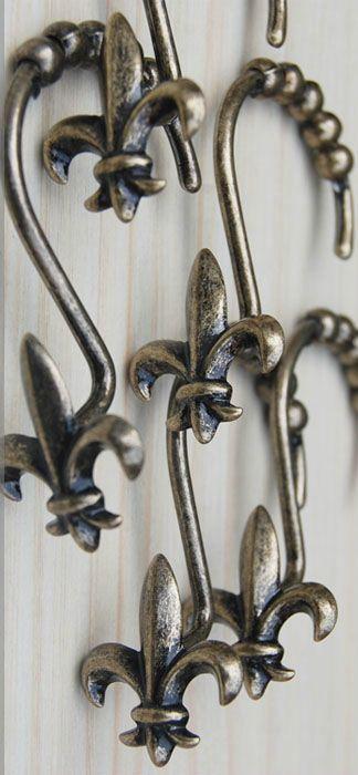 Fleur De Lis Shower Curtain Hooks From Wholesale Faucet Com Bathroom Door Hooks Shower Curtain Hooks Shower Curtain