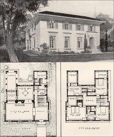 The Virtual Builder Vintage House Plans Mediterranean House Plans House Plans