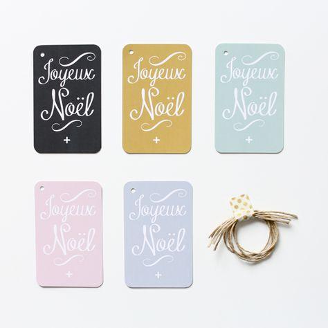 """Étiquettes cadeaux """"Joyeux Noël"""" / N°2"""