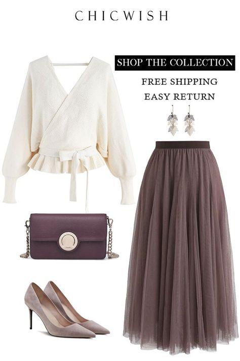 Tulle Maxi Skirt - #Maxi #skirt #tulle