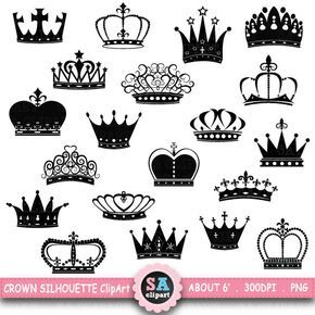 Crown Silhouette Clipart Crown Silhouette Clip Etsy Crown Clip Art Crown Silhouette Crown Tattoo Design