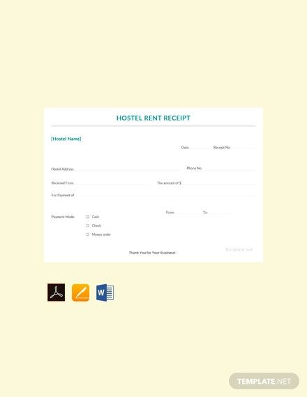 Sample Hostel Rent Receipt Template Free Pdf Google Docs Google Sheets Excel Word Template Net Receipt Template Templates Word Doc