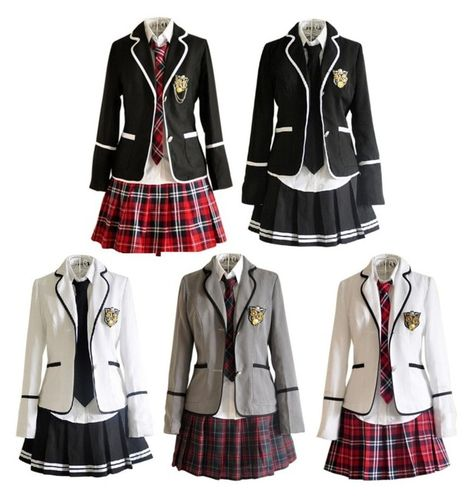 Japanese School Girl Costume British School Uniforms - A fashion look from August 2015 featuring womens cosplay costumes, ladies halloween costumes and women's halloween costumes. Browse and shop related looks.