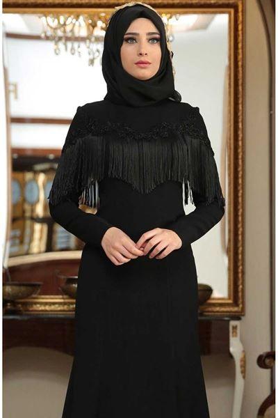 Sedanur Tesettur Puskullu Abiye Elbise Modelleri Moda Tesettur Giyim Elbise Modelleri Elbise Moda Stilleri