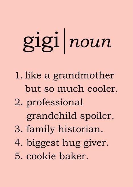 Happy Birthday Gigi Dictionary Definition Spoof Card Ad Affiliate Gigi Birthday Happy Dictionary Gigi Quotes Happy Mothers Happy Mothers Day