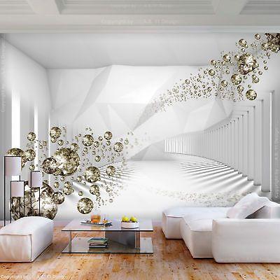 Vlies Fototapete 3d Optik Tunnel Weiss Diamant Tapete Wandbilder Xxl Wohnzimmer Fototapete Wandtapete Tapeten Wandbilder