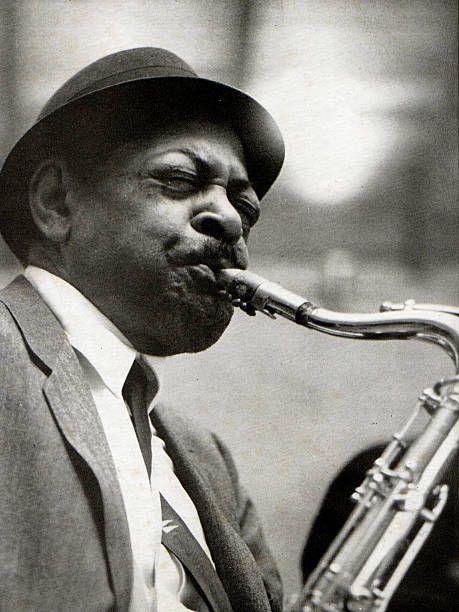 Photo of American tenor sax player Coleman Hawkins | Jazz