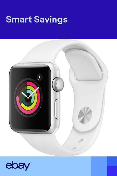 c3155b89c6b Apple Watch Gen 3 Series 3 38mm Silver Aluminum - White Sport Band MTEY2LLA