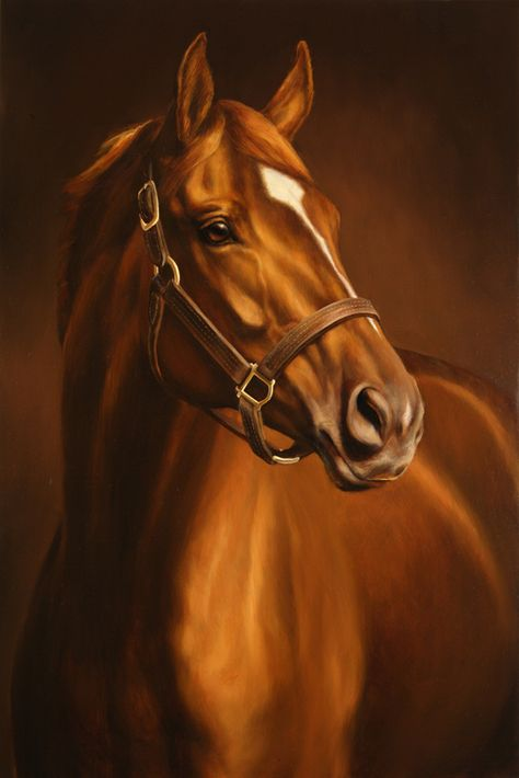Secretariat won some of the biggest horse racing rewards. So far, this is my favorite horse. Pretty Horses, Beautiful Horses, Animals Beautiful, Cute Animals, Horse Artwork, Horse Paintings, Pastel Paintings, Derby Horse, Thoroughbred Horse