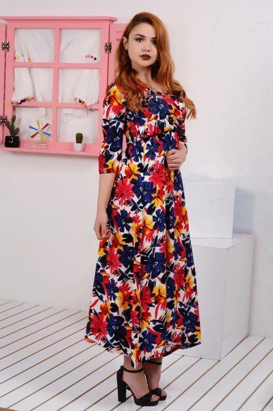 Elbise Kirmizi Cicekli Uzun Elbise Cool Gunluk Fashion Kaliplari Kadin Modelleri Deri Sik Klasik Kapali Kiz M Uzun Elbise Elbise Modelleri Elbise