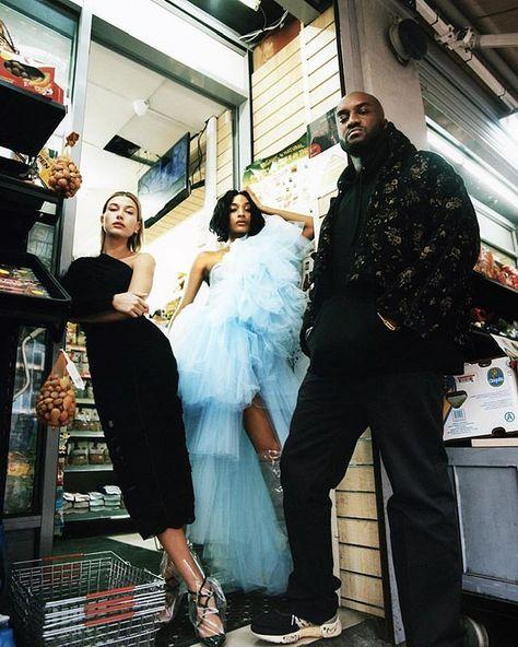 "in Hackney in head-to-toe ""streetwear"" ~ ss18 Off-White™ @haileybaldwin @jourdandunn @virgilabloh for  @britishvogue c/o @edward_enninful styling c/o @jackborkett photography c/o @oliviarosegarden"