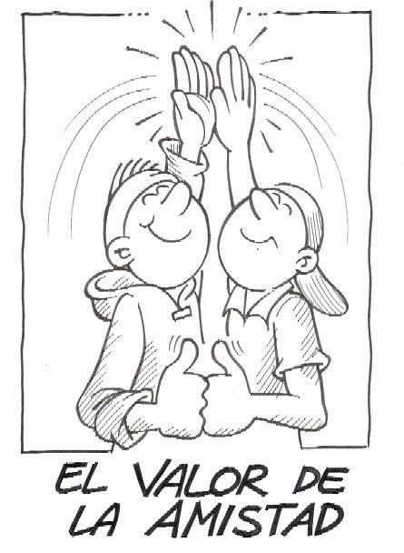 Valor De La Amistad Dibujalia Dibujos Para Colorear Eventos Imagenes De Amistad Valor De La Amistad Dibujos De Los Valores