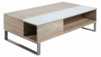 Table Basse Plateau Relevable Azalea Blanc Et Chene Tables Basses But Table Basse Plateau Table Basse Table