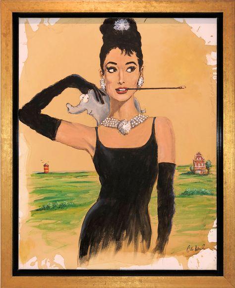 Tiffany Otto Waalkes Gemalde Des Audrey Hepburn Filmplakates Von Fruhstuck Bei Tiffany Gemalde Kunst Lustige Bilder
