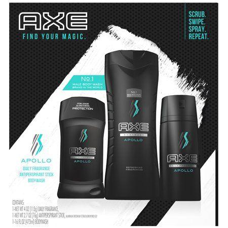 Axe Regimen Gift Set For Men Apollo 3 Pc Walmart Com Axe Body Wash Body Spray Body Wash