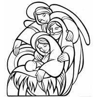 Disegno Di La Sacra Famiglia Da Colorare Nativity Christmas