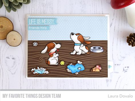 Stamps: BB Woof Pack, BB Cat-astrophyDie-namics: BB Woof Pack, BB Cat-astrophy, Twist  Turn Interactive, A2 Stitched Rectangle STAX Set 1Laura Dovalo#mftstamps