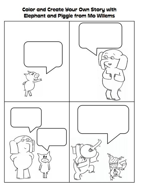 make own elephant and piggie story- for beginning of our mo willems - new mo willems coloring pages elephant and piggie
