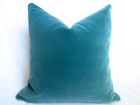 Haze Teal European Pillowcase. Cotton