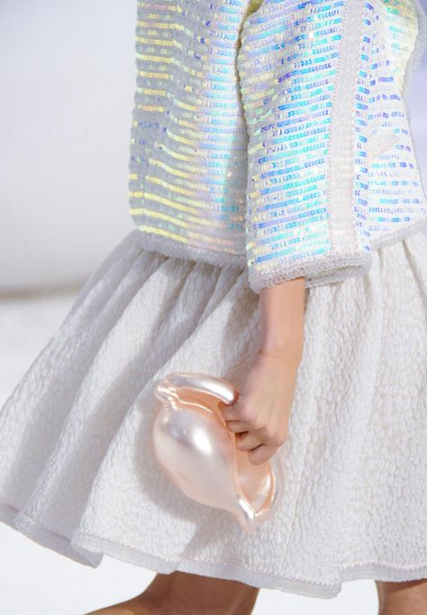 Chanel.... sea punk style.   We all need a shell bag in our lives