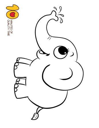 Elephant Coloring Page Coloring Pages Boyama Sayfalari Hayvan
