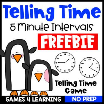 Free Time Game: Telling Time to the 5 Minutes Game | Time