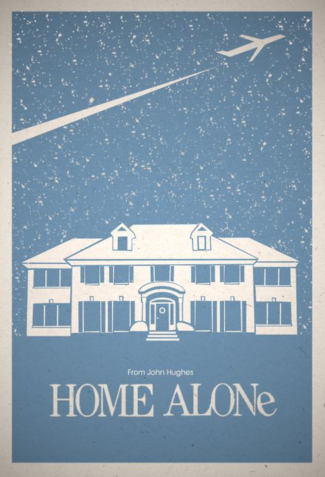 """Home Alone"" by Glenn O'Connell. http://minimalmovieposters.tumblr.com/tagged/home-alone"