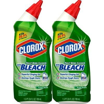 Clorox Toilet Bowl Cleaner With Bleach Fresh Scent 24oz 2pk Toilet Bowl Cleaner Toilet Bowl Clorox