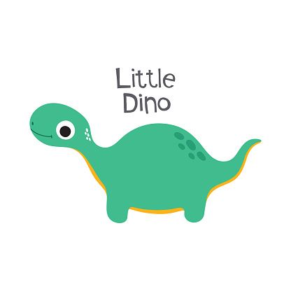 Cute Cartoon Dino Vector Illustration Little Dino Vector Illustration Cute Cartoon Illustration