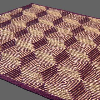 An optical illusion using illusion knit techniques.