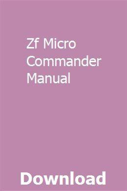 Zf Micro Commander Manual Owners Manuals Manual User Manual