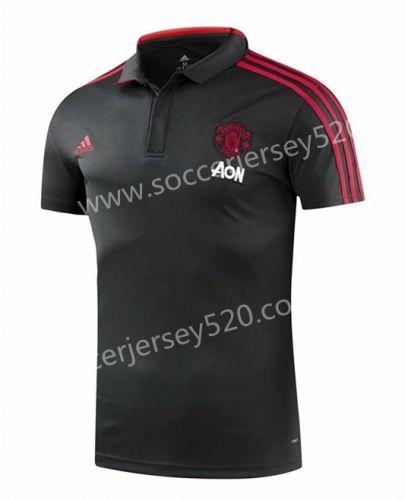 2018 19 Manchester United Black Thailand Polo Shirt Polo Polo Shirt Mens Tops