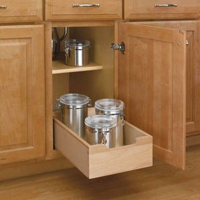 Rev A Shelf 4wdb 12 11 Inch Wood Base Kitchen Cabinet Pull Out Drawer Natural Kitchen Base Cabinets Rev A Shelf Base Cabinets