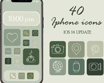Christmas Iphone App Icons Ios 14 Aesthetic App Covers Etsy In 2020 App Icon Iphone Icon Iphone Apps